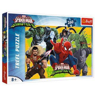 Пазлы Trefl Трефл Spider-Man Человек-паук в действии 260 элементов (13218)