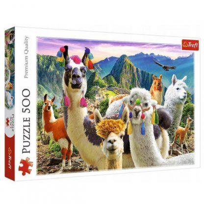 Пазлы Trefl Трефл Ламы в горах 500 элементов (37383)