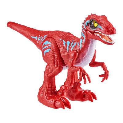 Интерактивный динозавр Robo Alive Красный Велоцираптор со слаймом