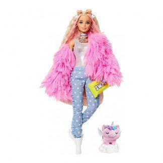 Кукла Barbie Extra Барби Экстра в розовой пушистой шубе