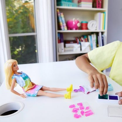 Кукла Barbie Модная печать серия Crayola