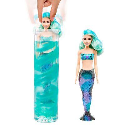 Кукла Barbie Color Reveal Mermaid Series Цветное преображение S4 сюрприз