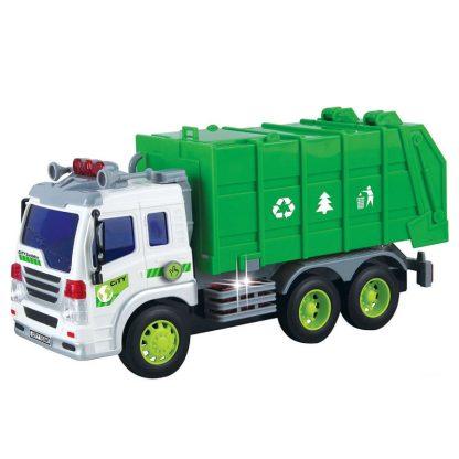 Инерционный Мусоровоз Dave Toy Junior Trucker 28 см со светом и звуком