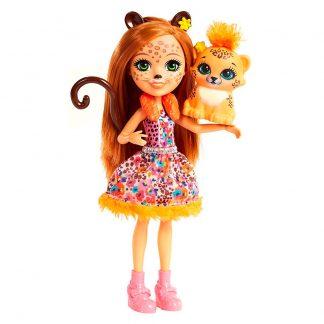 Кукла Enchantimals Гепард Чериш и ее питомец