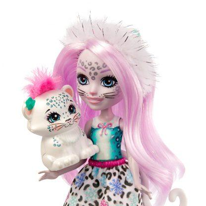 Кукла Enchantimals Снежный леопард Сибил и ее питомец Флэйк