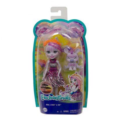 Кукла Enchantimals Зебра Зеди и ее питомец Реф