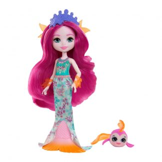 Кукла Enchantimals Royal Русалочка Маура с рыбкой Глайд