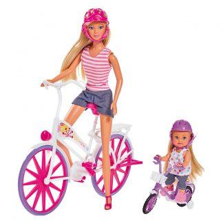 Игровой набор Steffi & Evi love Штеффи и Эви Прогулка на велосипедах