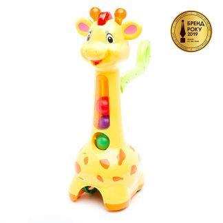 Игрушка-Каталка Kiddieland Аккуратный Жираф со светом и звуком