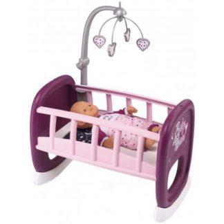 Кроватка-Колыбель для куклы Smoby Baby Nurse Прованс с мобилем