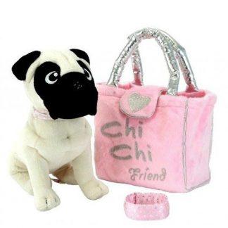 Мягкая игрушка Chi Chi Love Собачка Мопс с сумочкой и браслетом для девочки