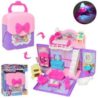 Игровой набор Домик-чемодан (аналог My Little Pony) со световыми эффектами