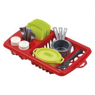Игровой набор Ecoiffier 100% Chef Посуда с сушилкой 23 предмета