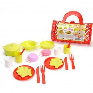 Игровой набор Ecoiffier Посуда в сумочке