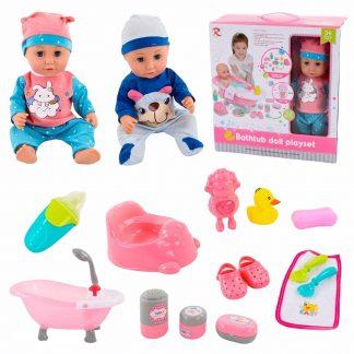 Пупс-кукла с ванной и аксессуарами