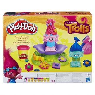 Набор для лепки Плей До Тролли Cалон Парикмахерская Play-Doh