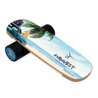 Баланс борд InGwest Retro beach (Balance Board Training System) с прорезиненным роллером