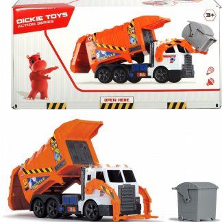 Автомобиль Dickie Toys Мусоровоз с контейнером и подъемником со звуковыми и световыми эффектами 46 см