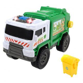 Функциональное авто Мусоровоз с баком Dickie Toys со звуком и светом 20 см