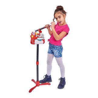 Детский Микрофон со стойкой и эффектами Simba Plug and play My Music World 130 см