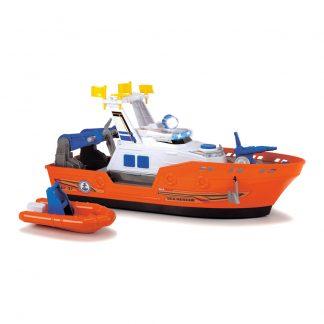 Набор Dickie toys Action Спасательный катер со шлюпкой водомет со светом и звуком