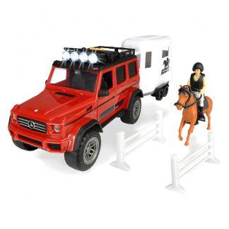 Игровой набор Dickie Toys Playlife Перевозка лошадей со звуковыми и световыми эффектами