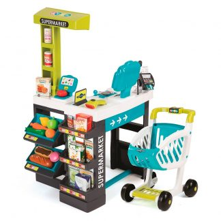 Интерактивный супермаркет Smoby с тележкой, продуктами и аксессуарами